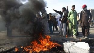 In Jalalabad, protesters shouted anti-American sentiment following last week's Koran burning incident