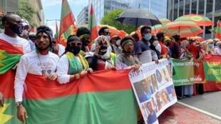 Rassemblement de la communauté éthiopienne oromo à Washington, le 17 juillet 2020.