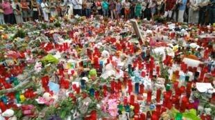 Homenagem às vítimas do atentado na Rambla de Barcelona