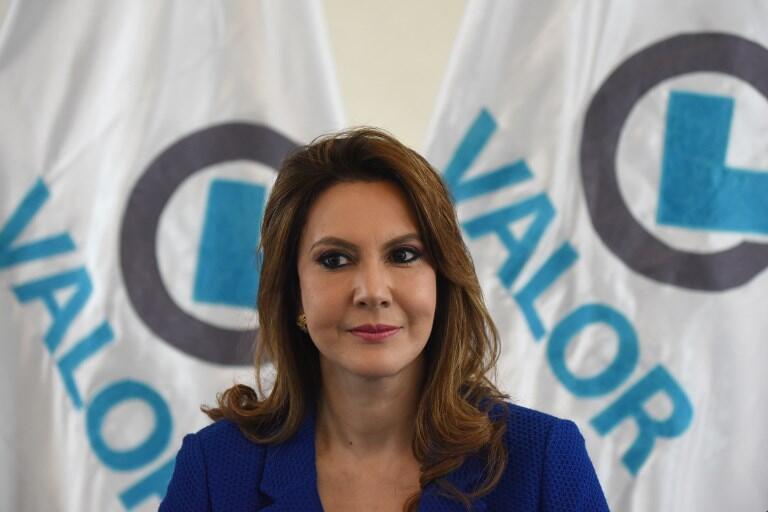 Zury Ríos, hija del exdictador Efraín Ríos Montt, es una de las tres mujeres que encabezan las intenciones de voto pero el TSE no ha ratificado aun su candidatura.