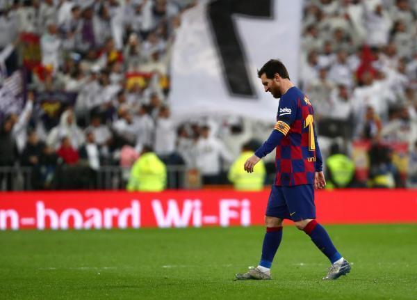 Lionel Messi, impuissant face au Real Madrid, le 1er mars 2020.