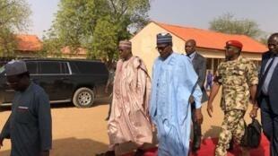 Muhammadu Buhari lokacin da ya ziyarci Makarantar kimiya da fasaha ta Dapchi