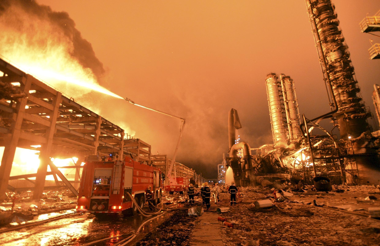L'usine pétrochimique de Zhangzhou, dans la province de Fujian, avril 2015.
