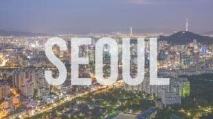 图为韩国首都首尔一景