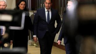 French President Emmanuel Macron's former bodyguard Alexandre Benalla at a Senate hearing on 21 January 2019.