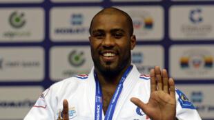 Teddy Riner obtient son septième titere de champion du monde de judo en Russie, le 30 août 2014.