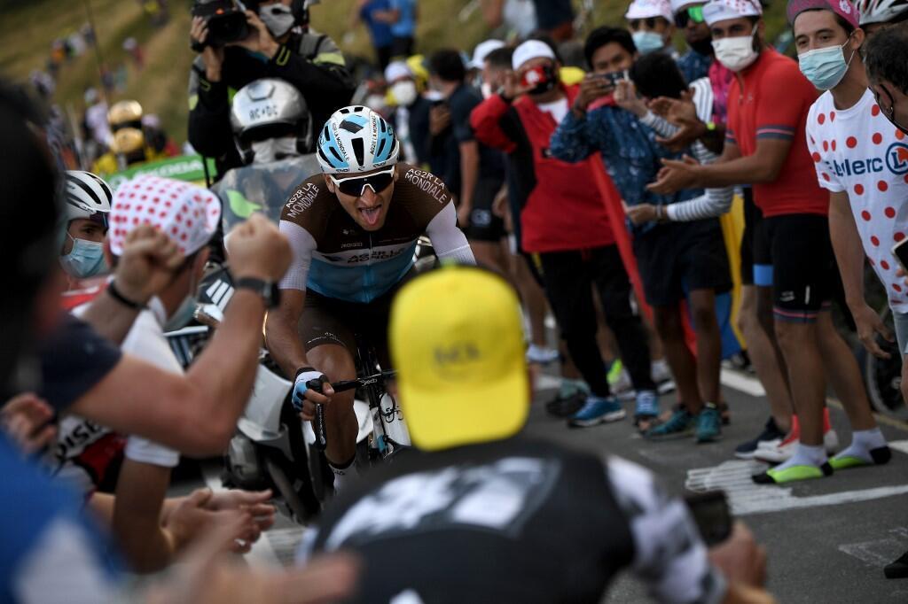 Le Français Nans Peters (Ag2r La Mondiale) durant la 8e étape du Tour de France, entre Cazeres-sur-Garonne et Loudenvielle, le 5 septembre 2020.