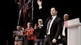 Benoît Hamon, le candidat socialiste était le 1er mars en meeting sur ses terres, à Brest.