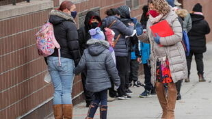 école élèves new york covid coronavirus