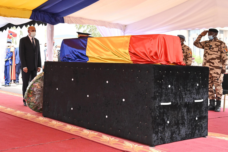 Funderal de Idriss Déby Itno en Yamena, Chad, el 23 de abril de 2021