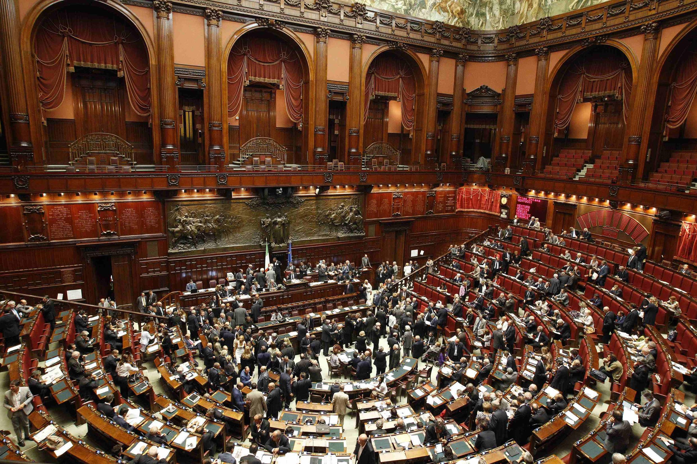 La Chambre haute du Parlement italien, à Rome, photographiée le 14 septembre 2011.
