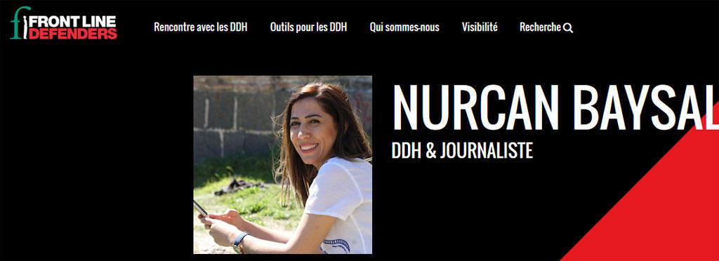 Nurcan Baysal, journaliste kurde de Turquie (Capture d'écran ).