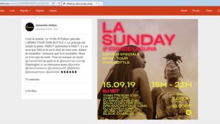 Affiche de « La Sunday » 2019 à Abidjan (capture d'écran).