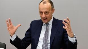 Friedrich Merz (CDU) lors d'une interview avec Reuters à Berlin, Allemagne, le 14 janvier 2020.