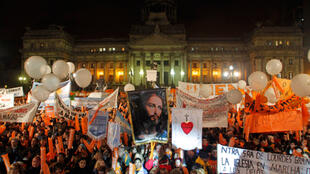 Manifestação contra o casamento gay em frente ao Congresso de Buenos Aires