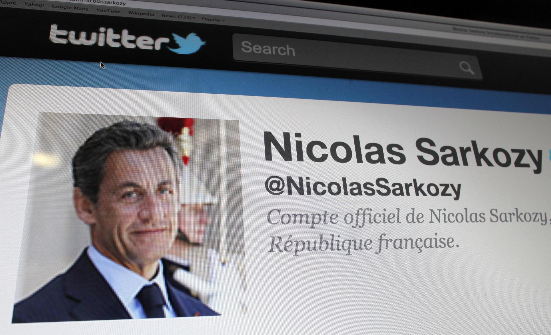 Reprodução do perfil oficial no twitter de Niclas Sarkozy.