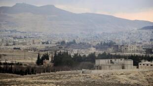 Vue de la ville de Yabroud, le 15 mars 2014.