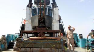 Des gardes-côtes libyens au large de Syrte. (image d'illustration)