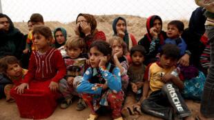 Le camp de el Khazer, près d'Erbil, accueille des milliers de familles qui ont fui Mossoul depuis le début de l'offensive pour la libération de la ville.