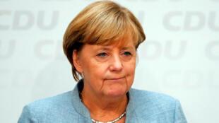 Thủ tướng Đức Angela Merkel họp báo tại trụ sở đảng CDU một ngày sau bầu cử Quốc Hội ngày 25/09/2017.
