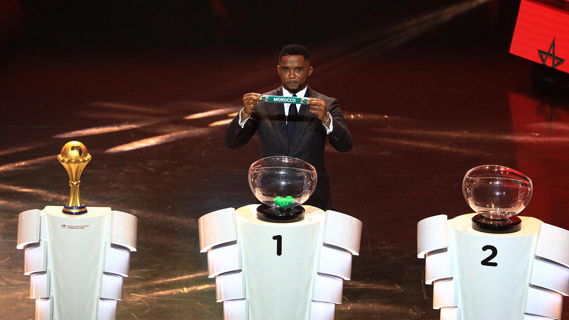 Football - Samuel Eto'o - Cameroun - Yaoundé -  tirage au sort CAN 2022 - AFP - 000_9LA7F2 - 17 août 2021