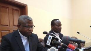 Padri Donatien Nshole,katibu mkuu wa baraza la maaskofu wa kanisa katoliki nchini DRC, CENCO