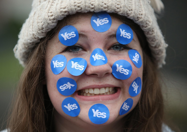 Un jeune partisane du «oui» à l'indépendance de l'Ecosse.
