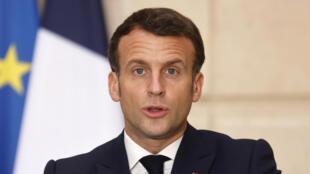 France - Emmanuel Macron - AP21077606842256