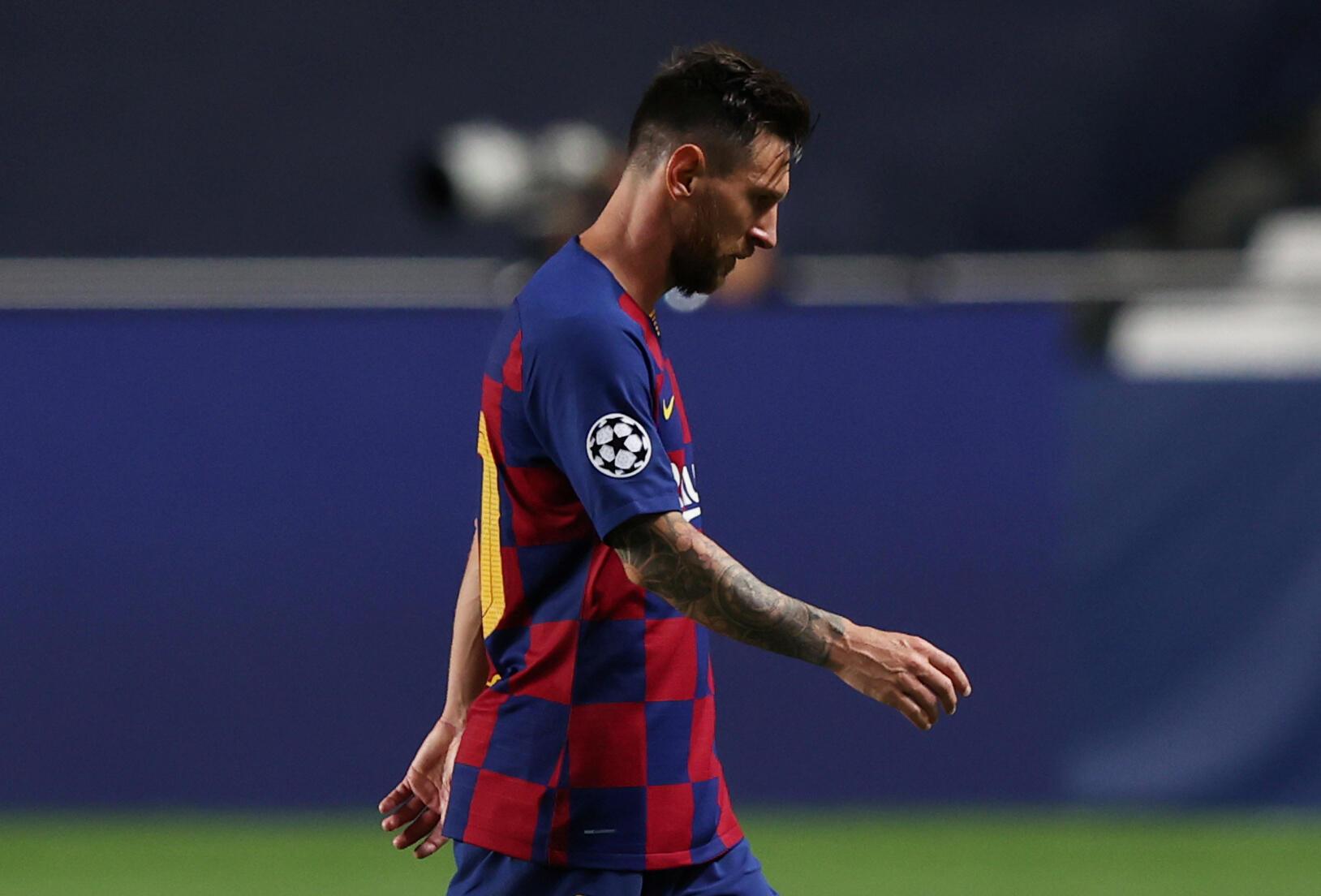 Lionel Messi, après la lourde défaite 8-2 du FC Barcelone contre le Bayern Munich, le 14 août 2020.