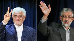 محمدرضا عارف، معاون اول دولت خاتمی وغلامعلی حداد عادل، رئیس فرهنگستان زبان فارسی