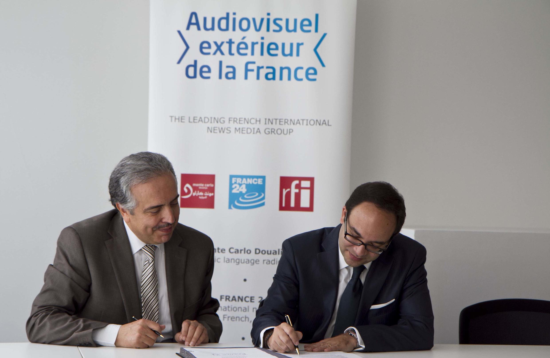 M. Slaheddine MAAOUI de l'ASBU et M. Frank MELLOUL de l'AEF