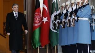 El presidente turco Abdula Gül en Ankara el 13 de febrero de 2014.