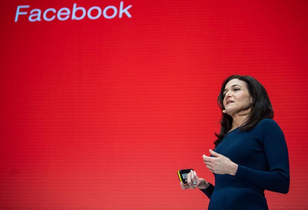 Sheryl Sandberg, numéro deux du réseau social Facebook, lors d'une conférence à Munich, le 20 janvier 2019. (Photo d'illustration)