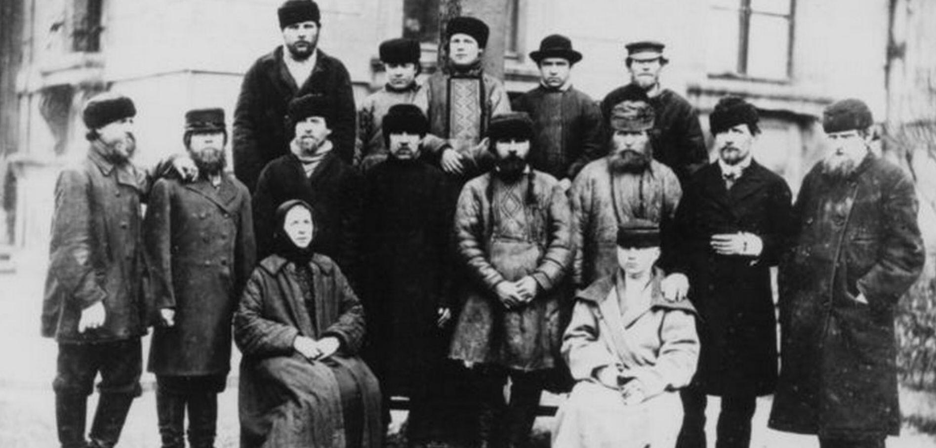 Укушенные бешеным волком жители Смоленской губернии в Институте Пастера в Париже в 1886 году.