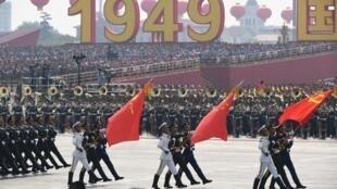 Desfile dos 70 anos da República Popular da China, em Pequim.