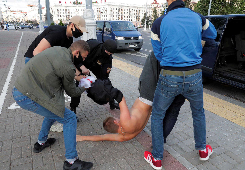 Задержания в Минске 14 июля 2020.