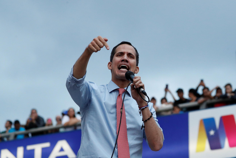 Juan Guaido, président autoproclamé par intérim du Venezuela, le mardi 12 mars à Caracas. (Photo d'illustration)