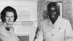 Margaret Thatcher et Kenneth Kaunda, à Londres, en 1980.