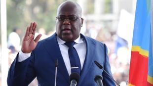 Rais mpya wa Jamhuri ya Kidemokrasia ya Congo Felix Tshisekedi akiapishwa Januaro 24 2019