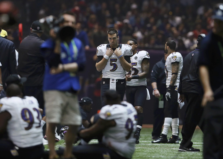 Les joueurs des Ravens et des 49ers ont dû attendre 35 minutes la réparation d'une panne d'éclairage.