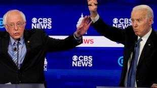 جو بایدن و برنی ساندرز، دو نامزد  دموکراتها برای ریاست جمهوری