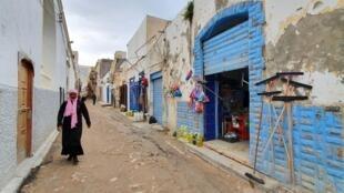 Moja ya mitaa huko Tripoli, Libya, Januari 13, 2020.