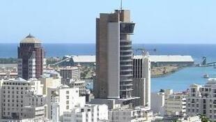 La Banque de Maurice, au centre, est le plus haut bâtiment à l'île Maurice.