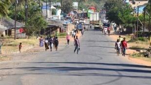 A província de Cabo Delgado, em Moçambique, localizada no extremo nordeste do país.