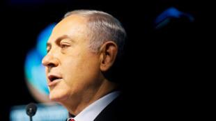 Le Premier ministre israélien Benyamin Netanyahu, lors d'une conférence à Tel Aviv, le 14 février 2018.