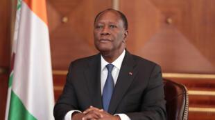Alassane Ouattara, président de la Côte d'Ivoire (illustration).