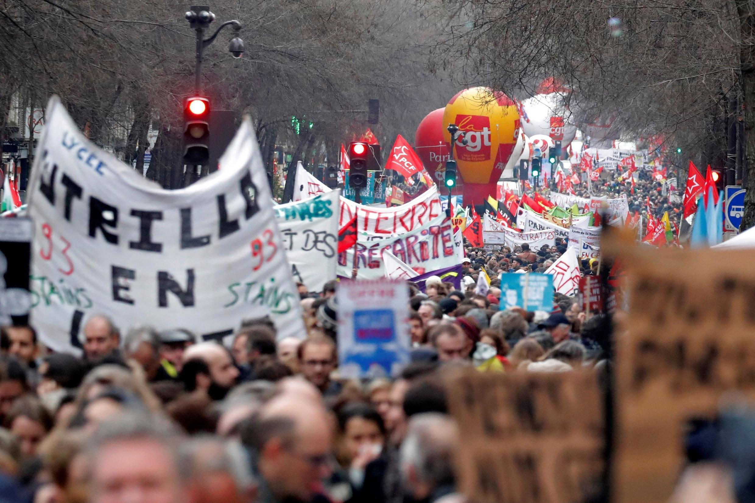 President Emmanuel Macron's pensions reform brought thousands of people onto the streets in protest and led to crippling strikes.