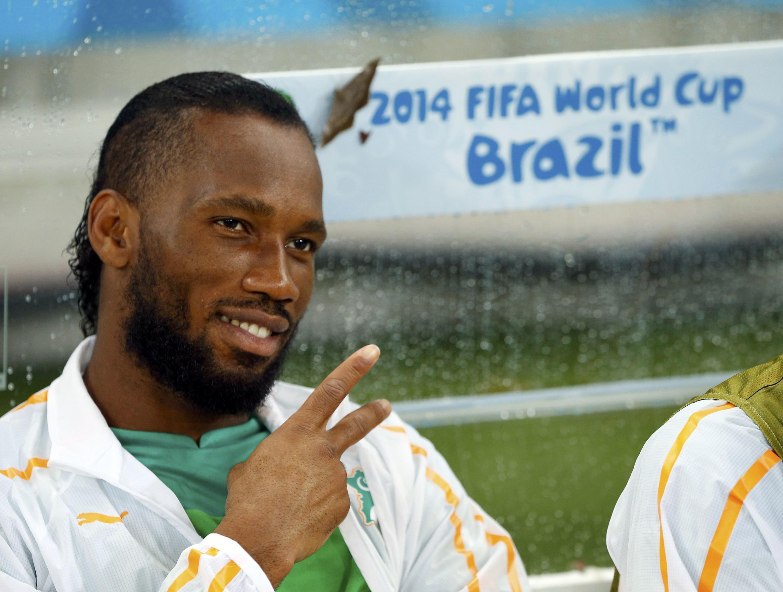 L'Ivoirien Didier Drogba durant la Coupe du monde 2014 au Brésil.