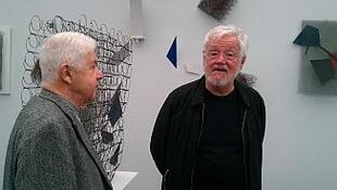Jean-François Jaeger, presidente da Galeria Jeanne-Bucher, e o artista brasileiro Arthur Luiz Piza