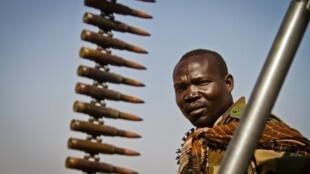Combattant de la SPLA-Nord à Mufalu.